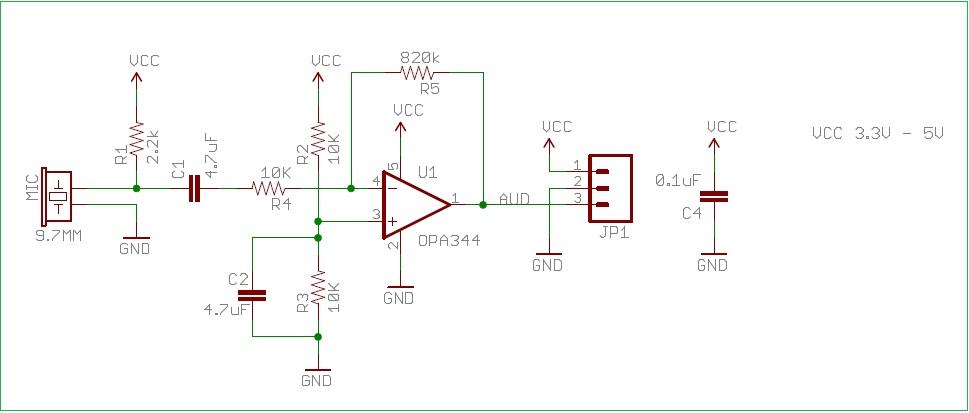 [BG_0425] Microphone Circuits Audio Schematics Schematic