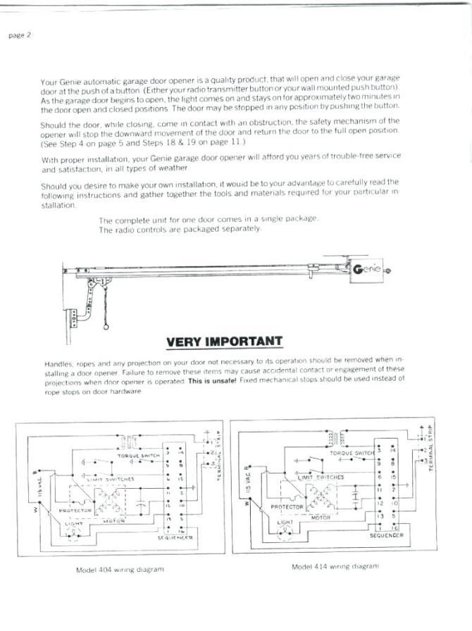 le8305 genie intellicode garage door opener wiring diagram
