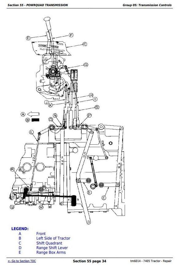 [ZE_0283] John Deere 7410 Wiring Diagram Schematic Wiring