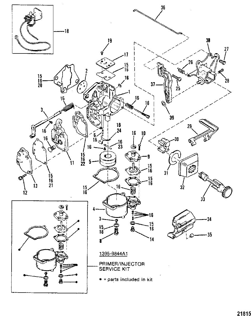 [VA_1689] Yamaha Outboard 2 Stroke Carburetor Diagram