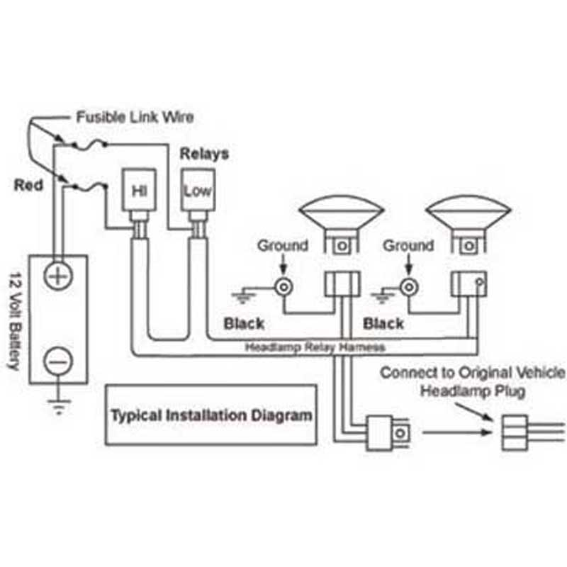 [MM_8816] Relay Wiring For Headlights Schematic Wiring