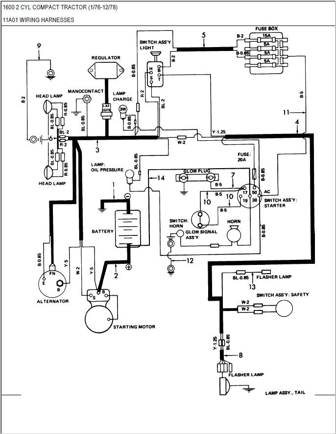 [AY_0894] Ford Tractor 6610 Alternator Wiring Diagram