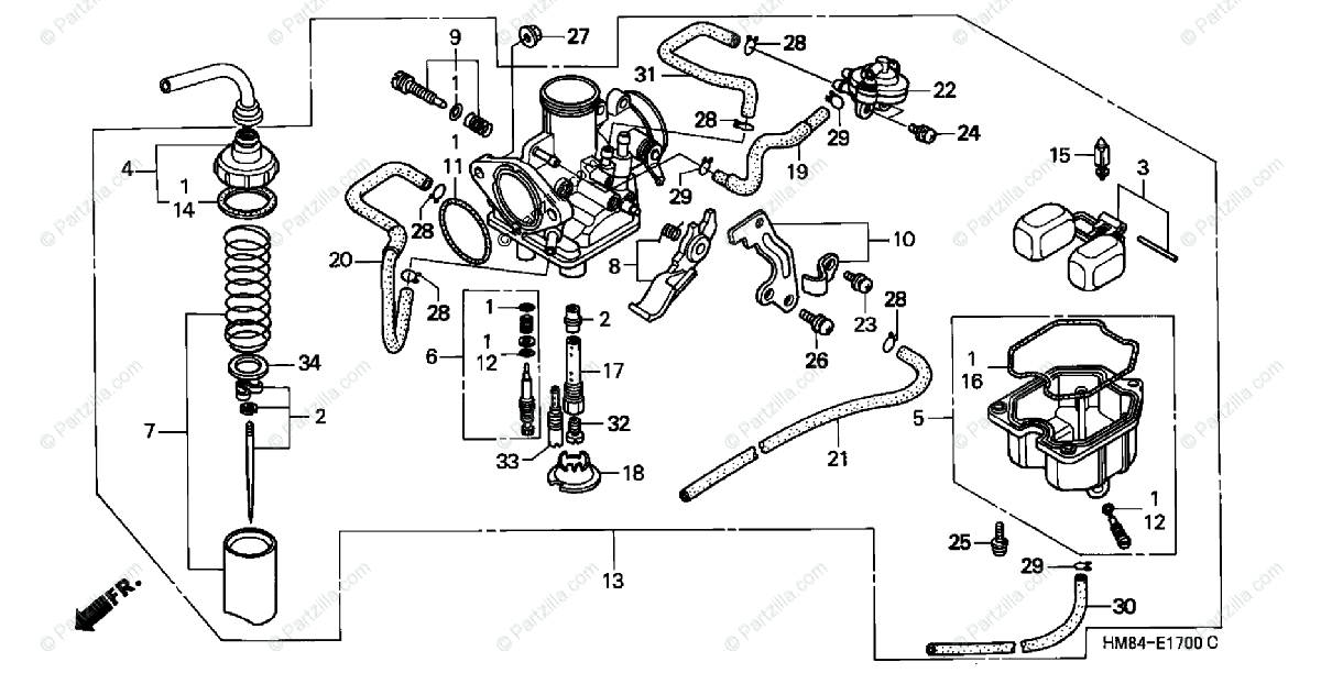 [HW_0895] Honda Recon Carburetor Diagram Free Diagram
