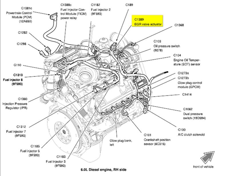 Ford 6 0 Sel Engine Diagram / Ford 6 0l Engine Diagram