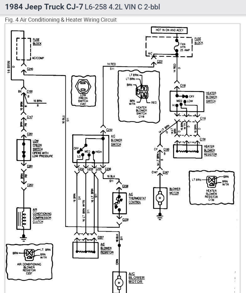 [SR_6315] Cj5 Heater Diagram Wiring Diagram