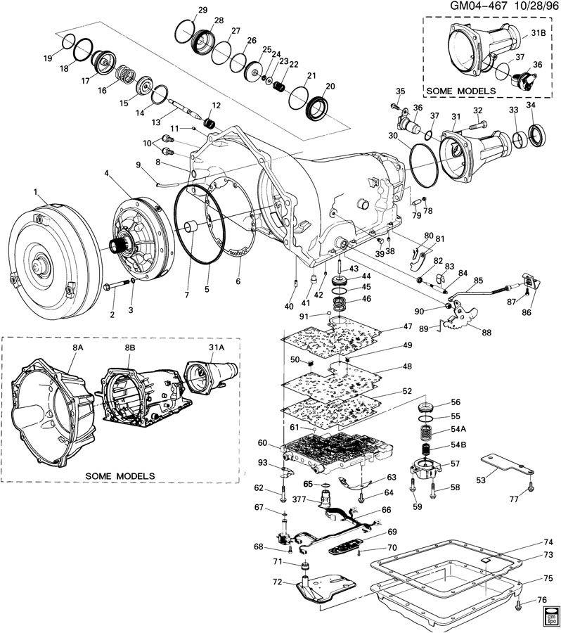 [OK_1665] 4L60E Automatic Transmission Parts Diagram