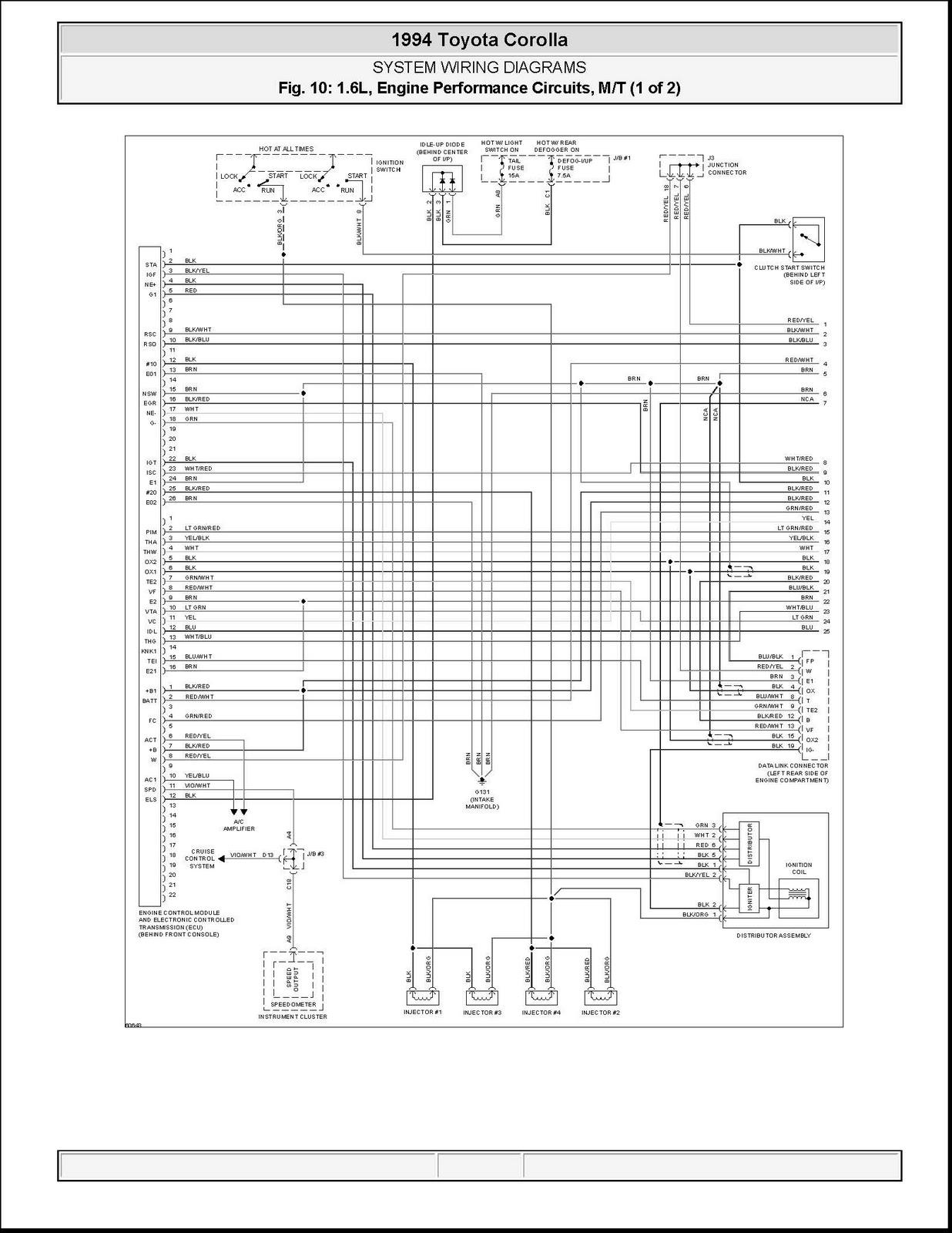 Toyota Corolla Ecu Wiring Diagram
