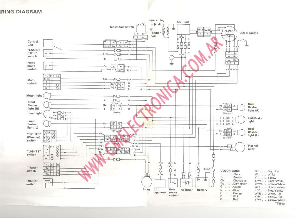 [AS_8034] Yamaha Tt350 Wiring Diagram Schematic Wiring