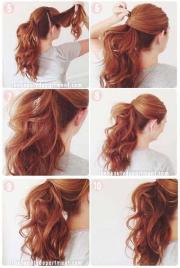 simple hairstyles step