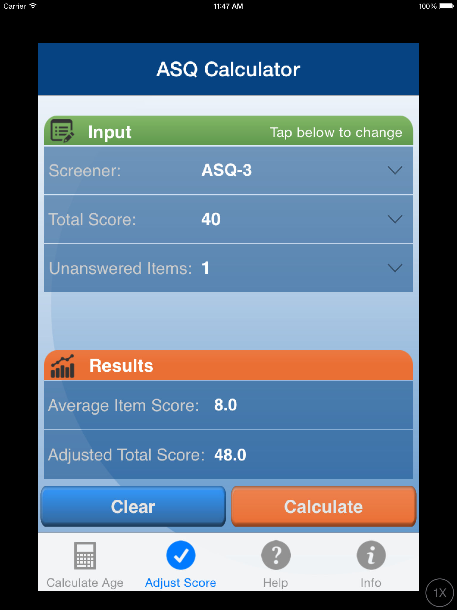 ASQ Age & Adjusted Score Calculator App Ranking and Store ...