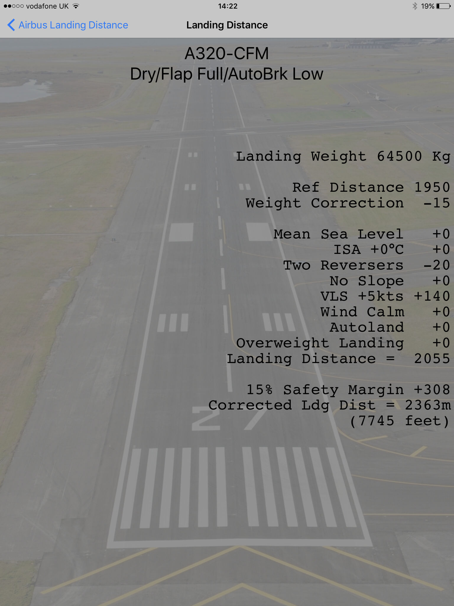 Airbus Landing Distance (IFLD) Calculator App Ranking and