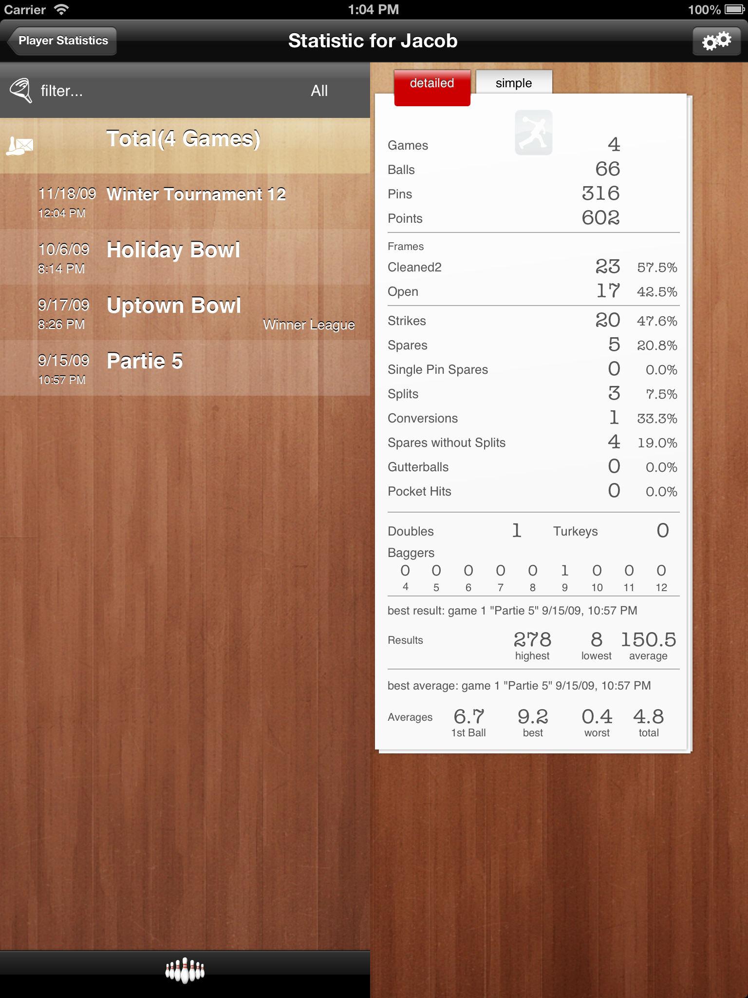App Description. Save And Archive Bowling Scores