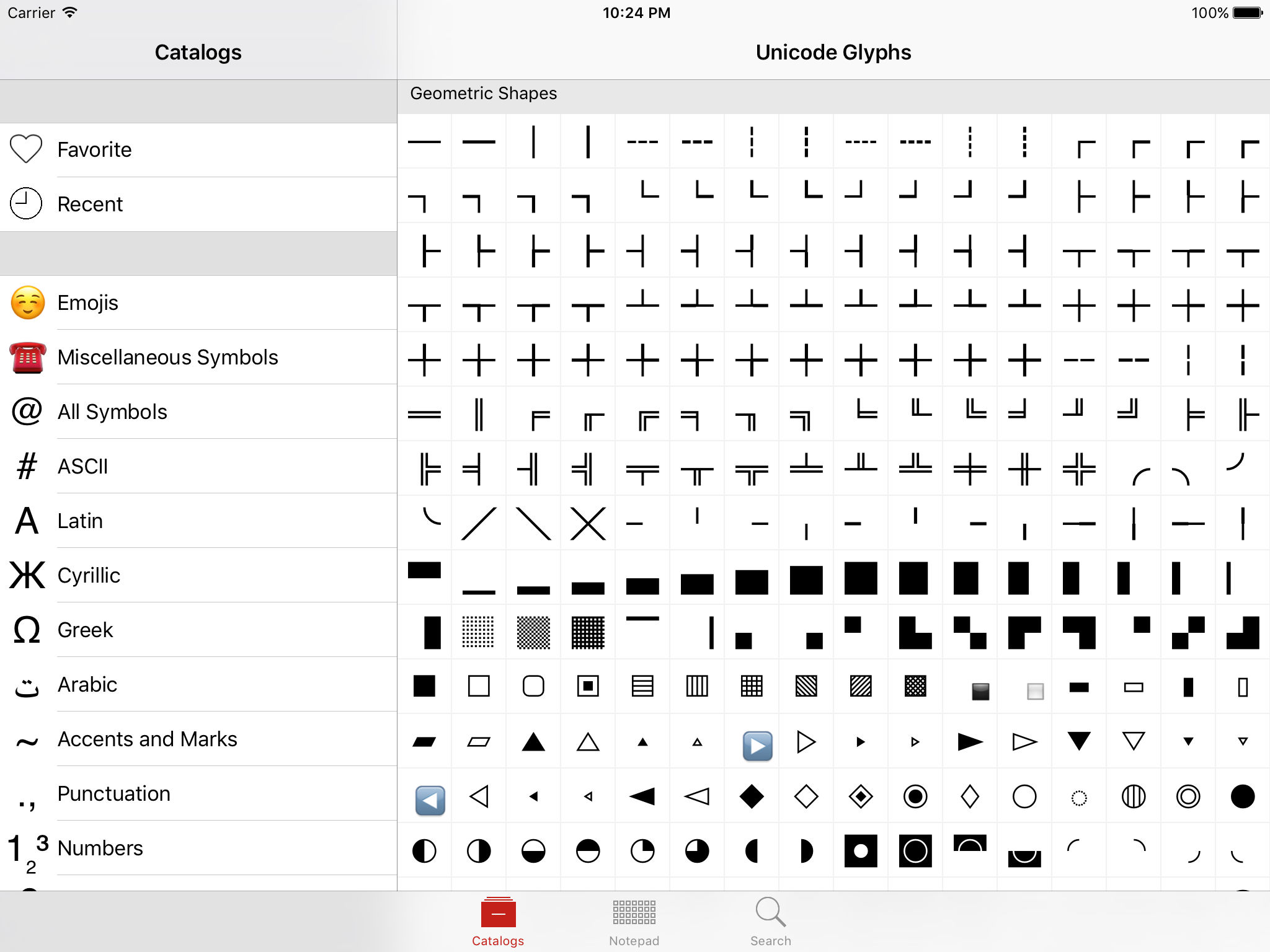 Unicode Pad Pro with keyboards App Ranking and Store Data