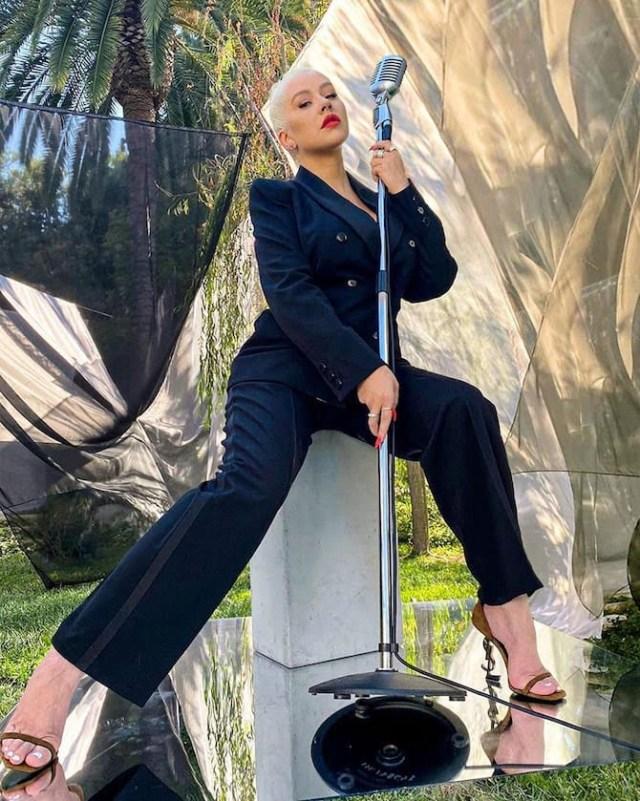 Christina Aguilera has posted a photo on Instagram with the following remarks: Good Morning America (nn - 2020-09-01, ddp socialmediaservice / IPA) p.s. la foto e' utilizzabile nel rispetto del contesto in cui e' stata scattata, e senza intento diffamatorio del decoro delle persone rappresentate