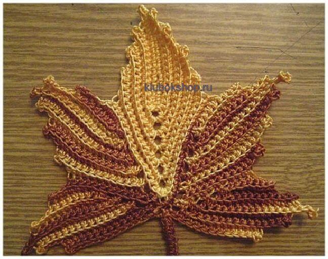 Foglia di acero a maglia