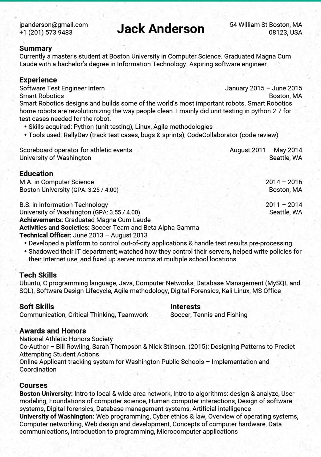 typical skills for resume