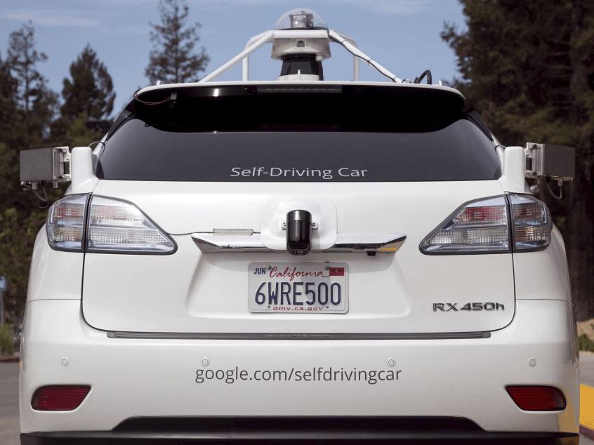Lexus SUV equipped with Google self-driving sensors