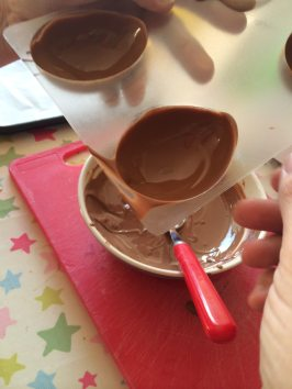 making chocolate easter eggs 4