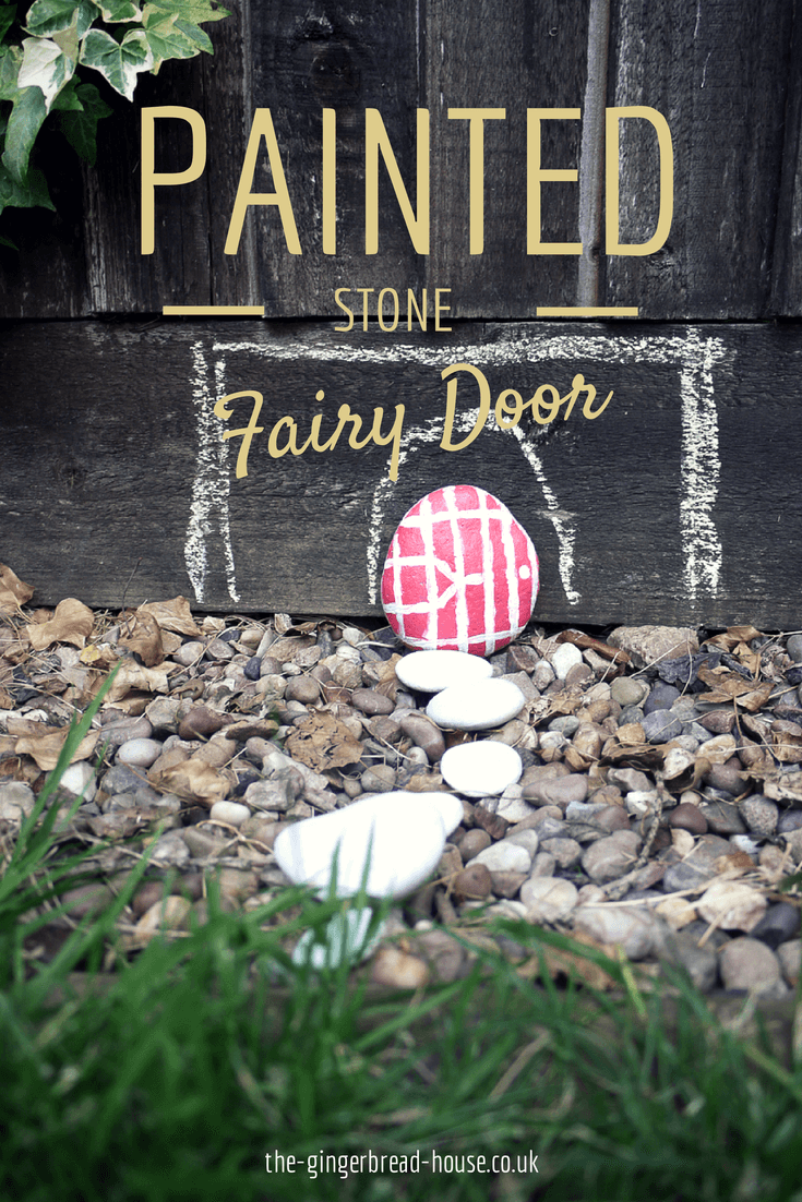 painted stone fairy door