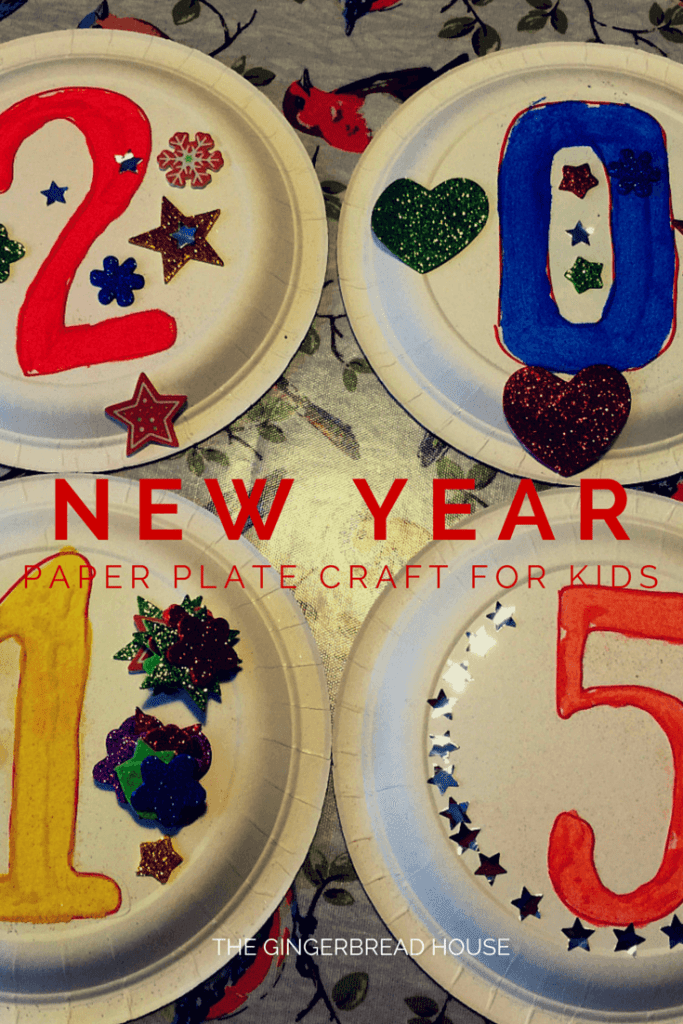 New Year paper plate kids craft