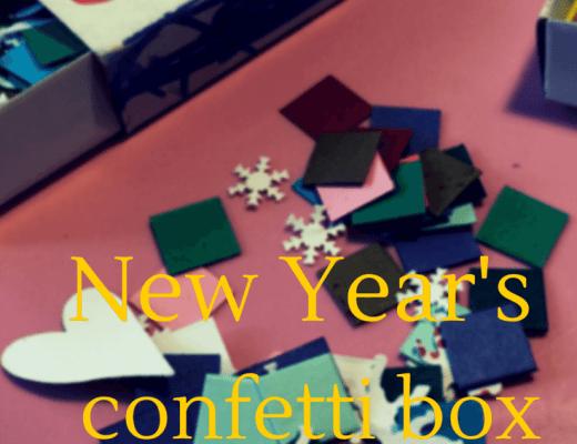 New Year's confetti box