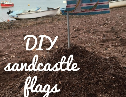 DIY sandcastle flags