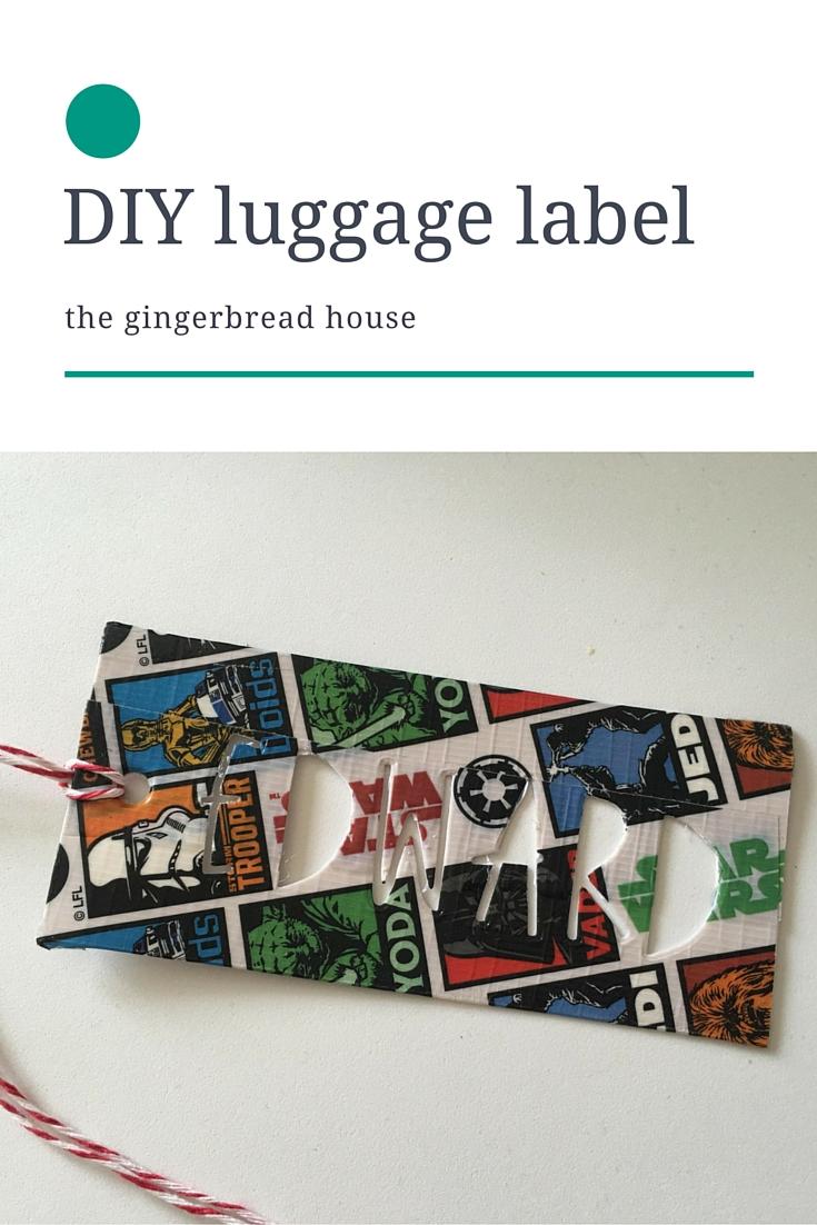 DIY kid-friendly luggage label