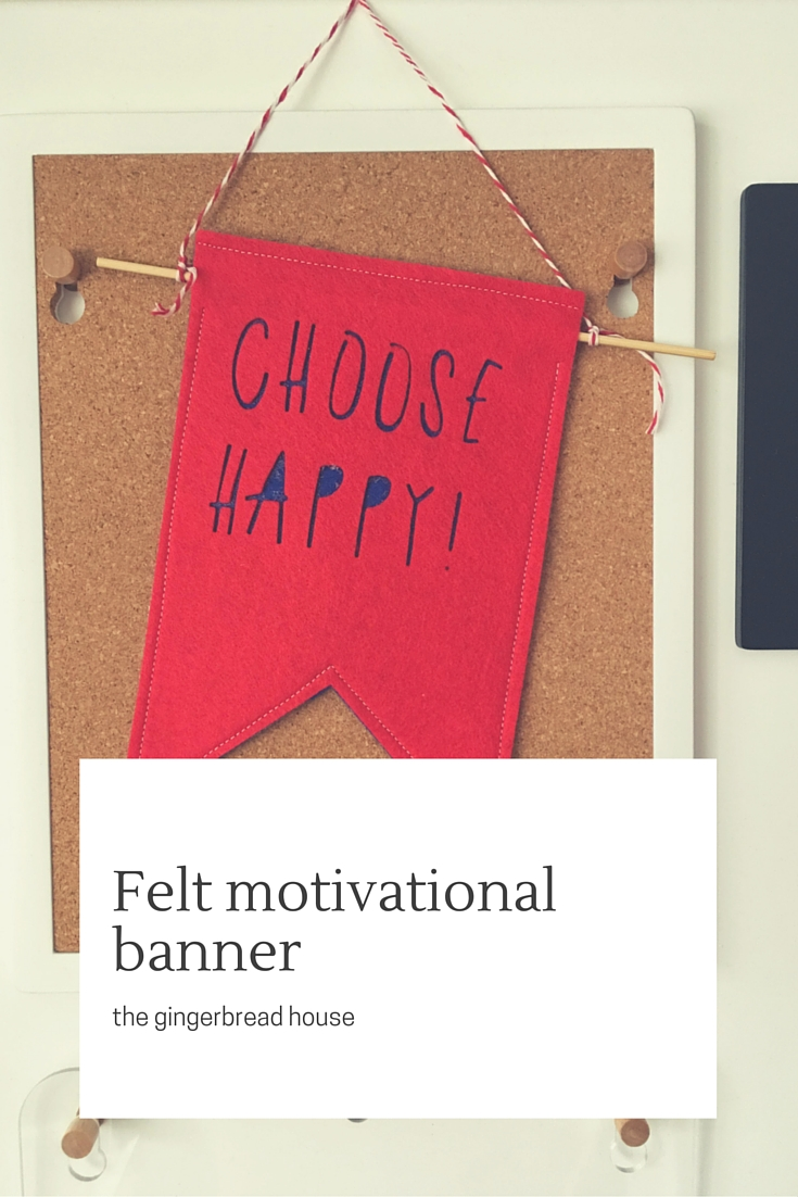 Choose Happy! motivational banner