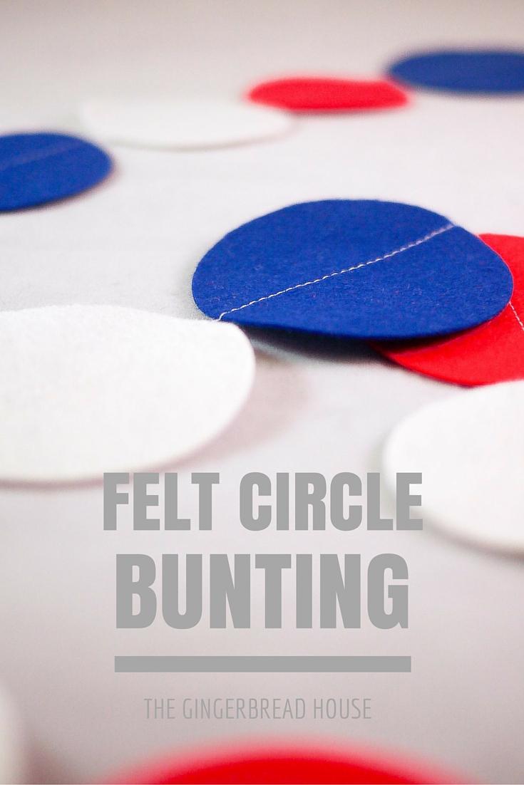 felt circle bunting