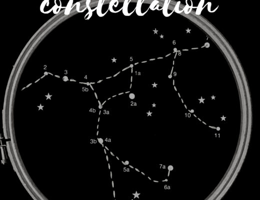 DIY constellation pin badge holder