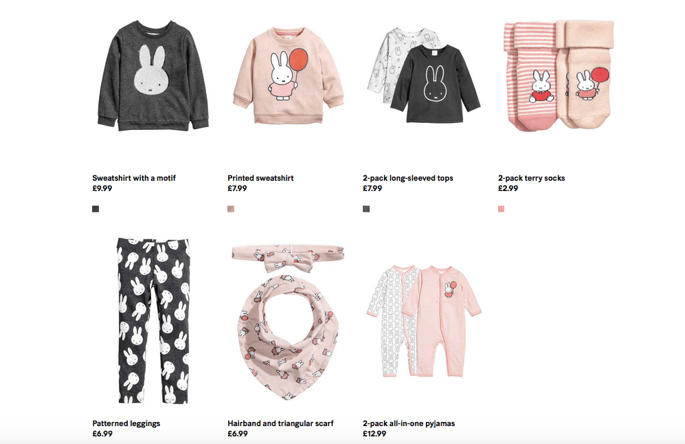 Miffy x H&M collection