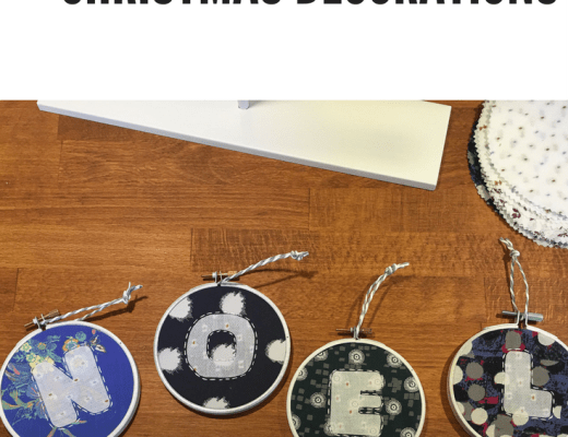 Embroidery hoop Christmas decorations {Sew this is Knitmas}
