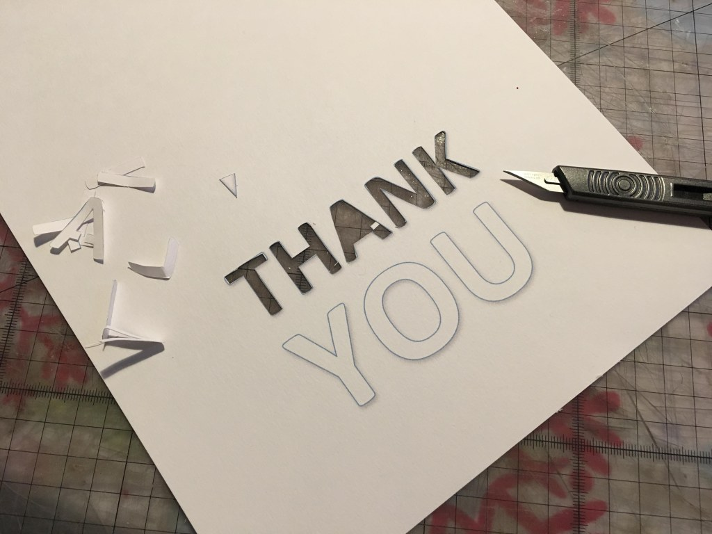 Simple Thank You cards for kids to make