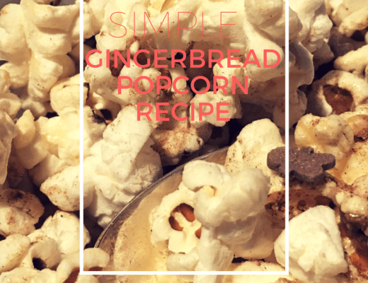 Super simple gingerbread popcorn recipe