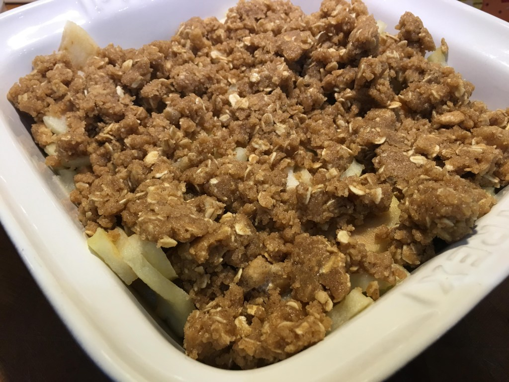 Apple and Gingerbread crumble