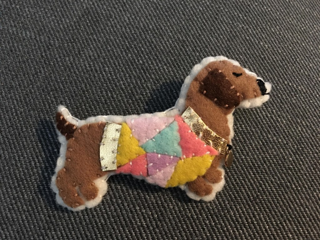 Mollie Makes Dachshund Brooch Kit