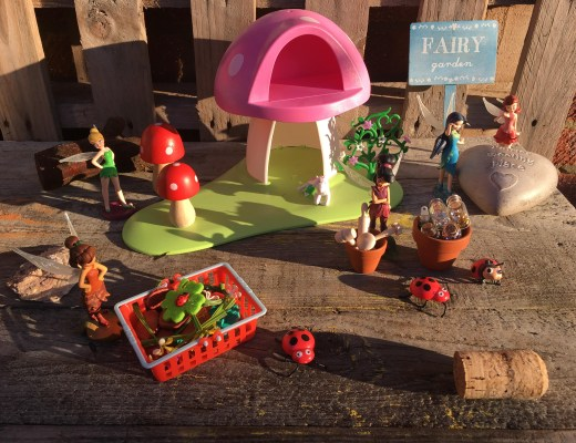 Winter fairy garden play activity for kids