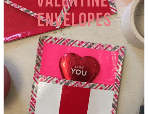 DUCK TAPE VALENTINE ENVELOPES from the gingerbread house blog