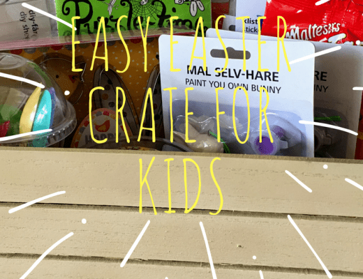 Creating an Easter crate for kids