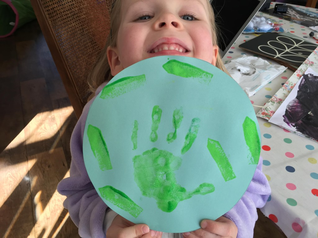 Earth Day hand print craft