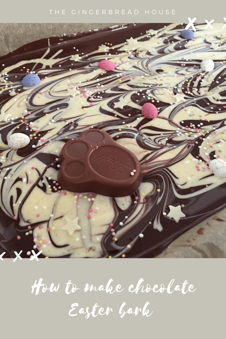 Recipe for chocolate Easter bark