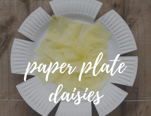 Easy paper plate daisies for kids to make