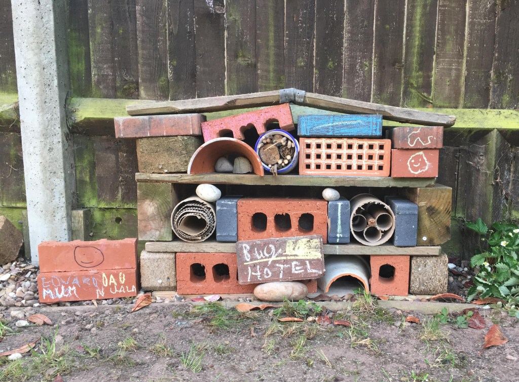 how to make a bug hotel from a wooden pallet