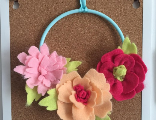felt flower wreath kit