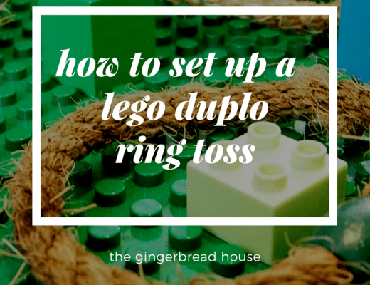 How to set up a Lego Ring Toss game