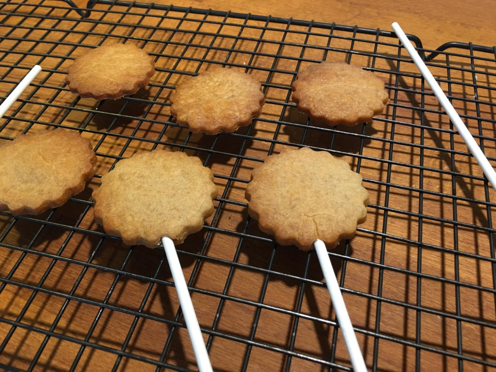 Easy gingerbread biscuit pops