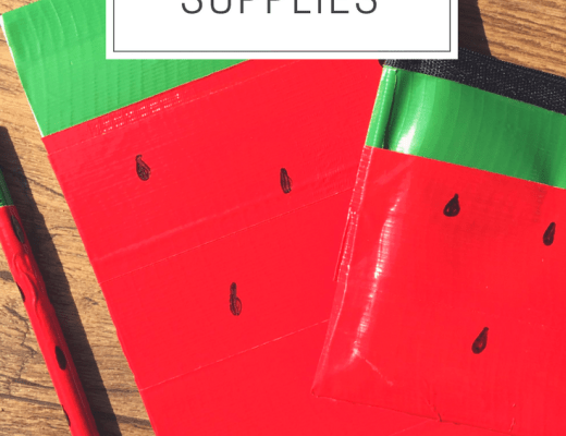 Duck Tape watermelon school supplies