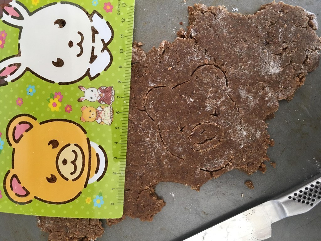 Sylvanian Families inspired gingerbread biscuits