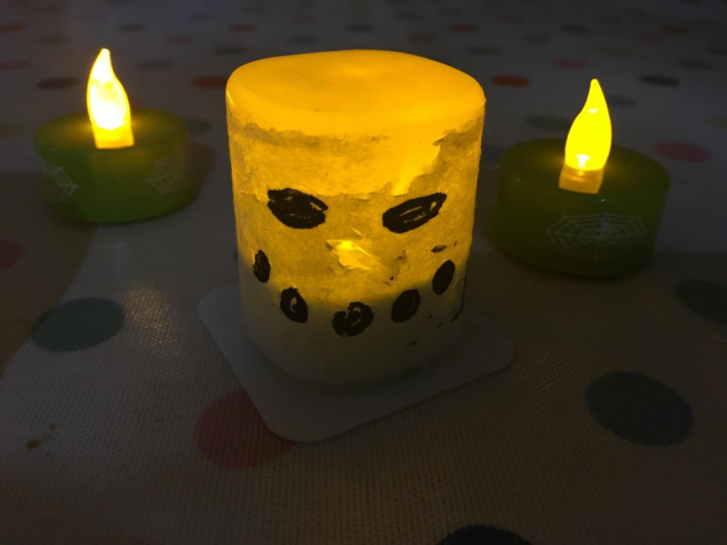 Tealight Halloween decorations