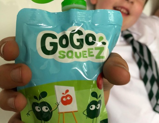 A healthy packed lunch for school with GoGo squeeZ